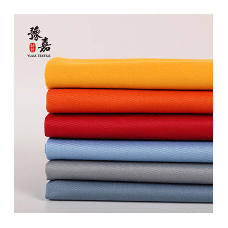 Colored jeans denim poly cotton twill fabric grey denim fabric supplier from China