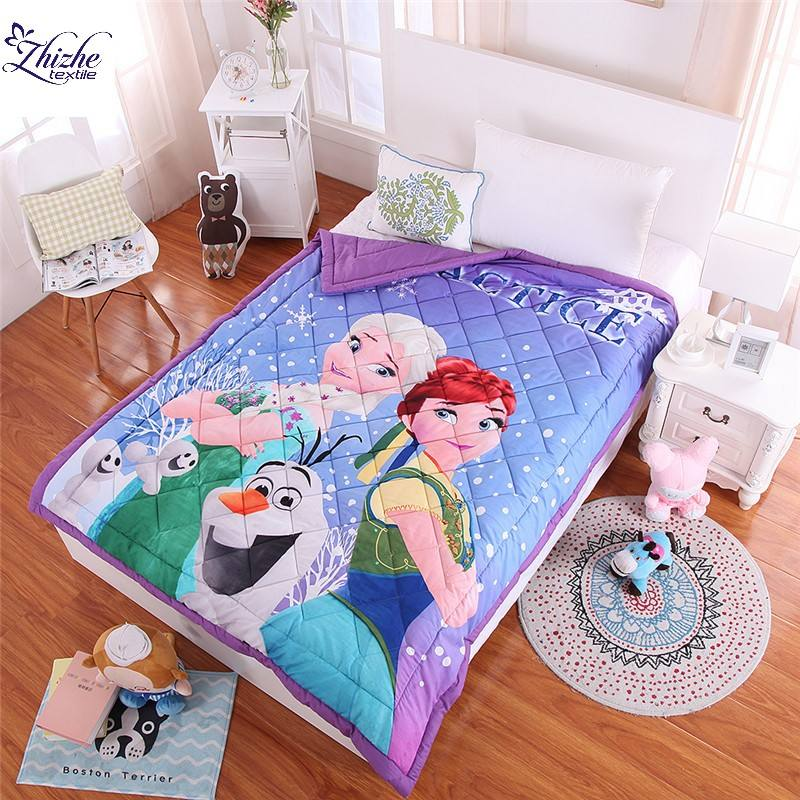 Cartoon style polyester cotton air conditioner quilt for children