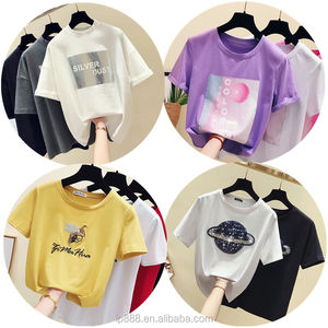 2020 New Arrival 100% Cotton T-shirts Women Fashion Cheap Loose Women's Clothing