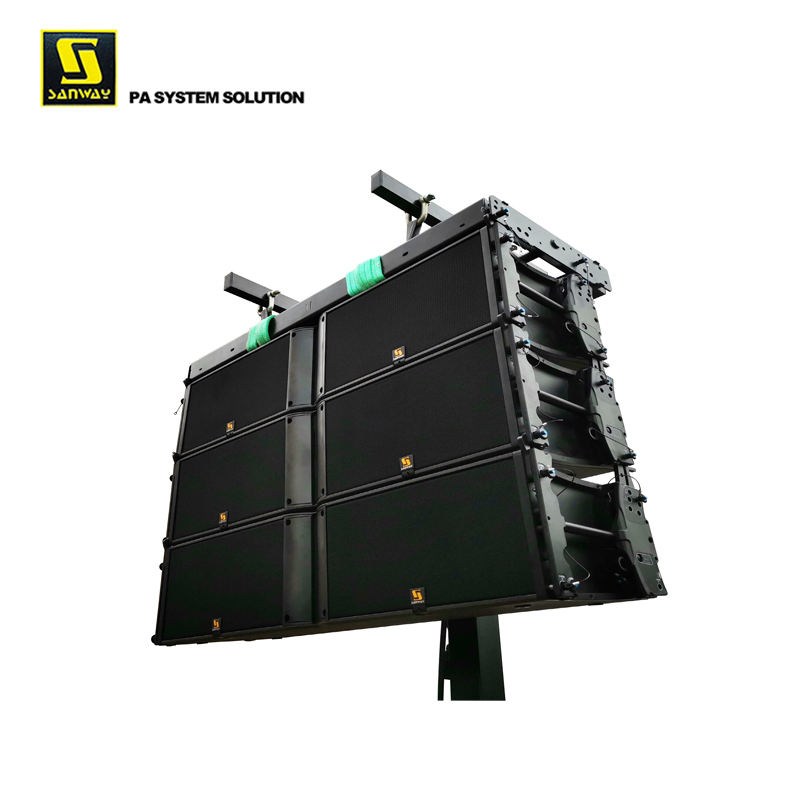 "K2 Dual 12 ""3 WAY Line Array Speaker Desain Kotak"
