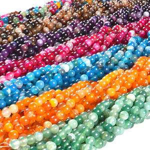 2020 custom jewelry 4mm-10mm colorful and mix size stone beads natural stone beads