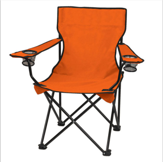 Outdoor wholesale factory 600D Fabric Armrest Folding Beach Camping Chair customizable logo colorful foldable fishing chairs