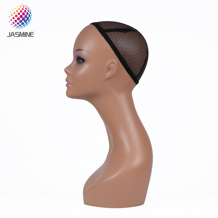 Hot sales black african wig mannequin head for hat and scarf displays