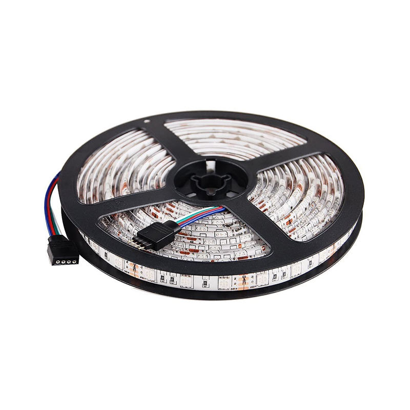 5050 SMD 300LEDs DC12V 16.4ft/5m RGB color changing Black PCB board waterproof IP65 LED Flexible Strip Ribbon Light
