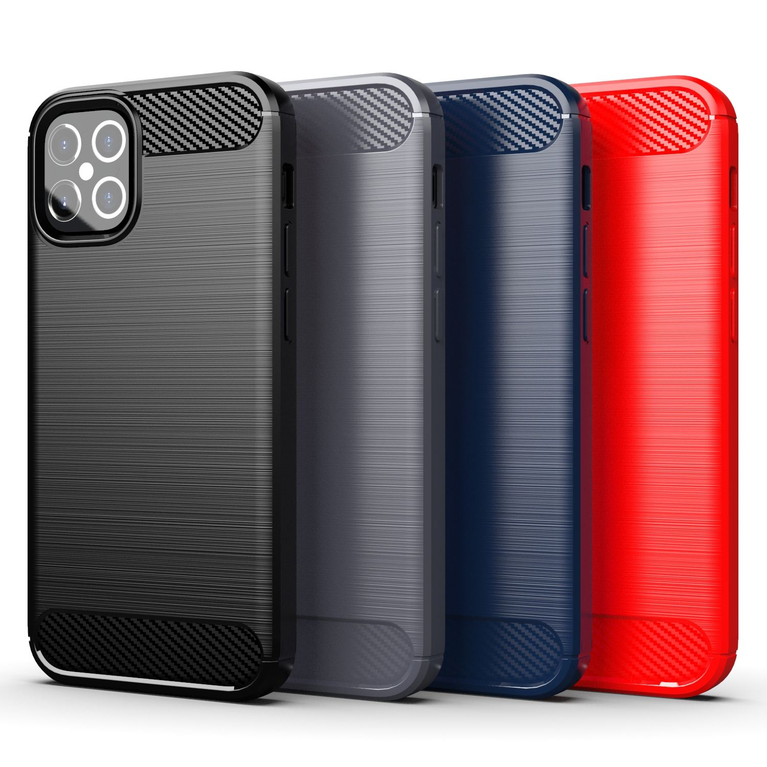 Fabriek Groothandel Soft Tpu Case Voor Iphone 12 Pro Max Back Cover Carbon Fiber Case Voor Iphone 12 Case