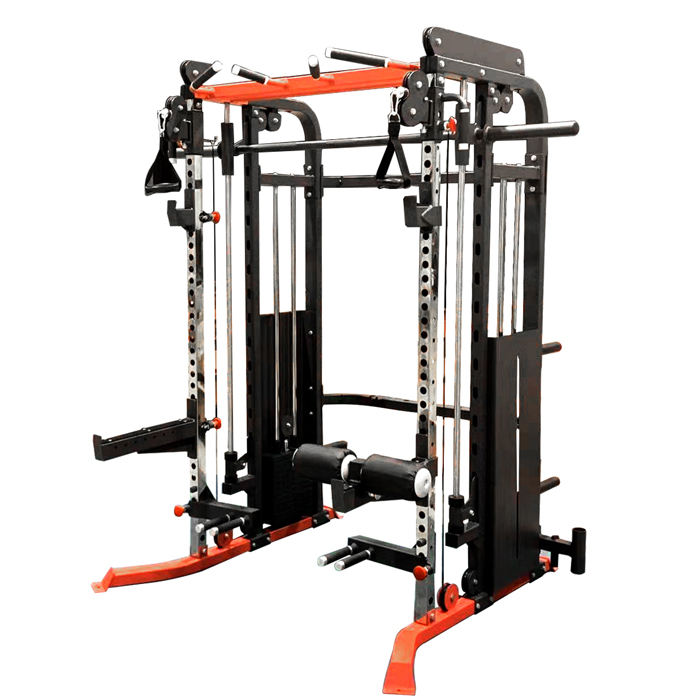 Commercial Gym Equipment 3 in 1 Multi Functional 3d Smith Machine Cable Crossover Trainer Power Rack
