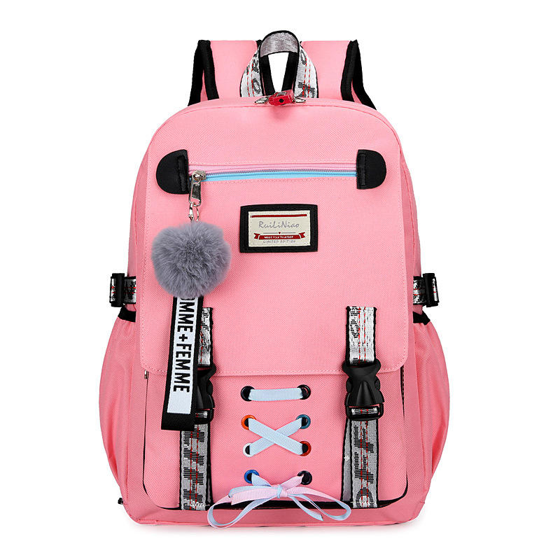 Anti Theft Women Leisure College School Backpack Bags for Teenage Girls
