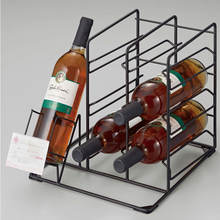 Modern Design Novelty Black Metal Wine Table Stand Storage Racks