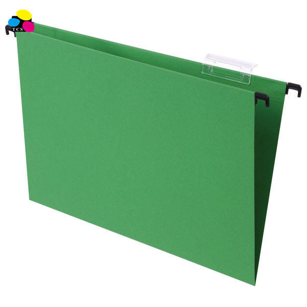 Three color stone plastic rod green A4 size 1/5 cut recycled paper suspension hanging File folders