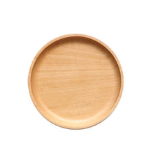 Whole wooden Japanese goods 15cm dried fruit baking dishes coconut wood plates