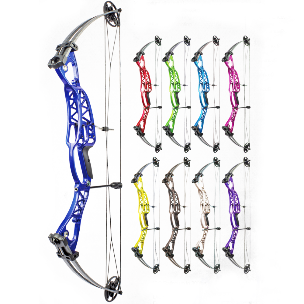 ZS-M106 Hunting Fishing Competition Compound Bow Set for shooting Archery Arrow 40-60lbs Magnesium Alloy Riser Laminated Limbs