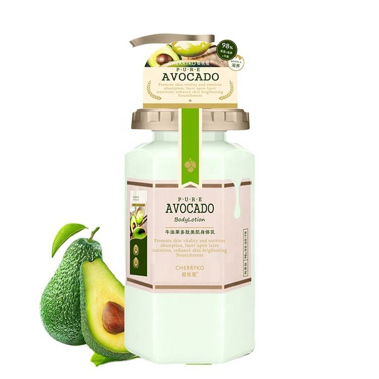 Hot Selling Avocado Extract Natural Body Lotion Moisturizing Shea Butter Body Lotion Cream