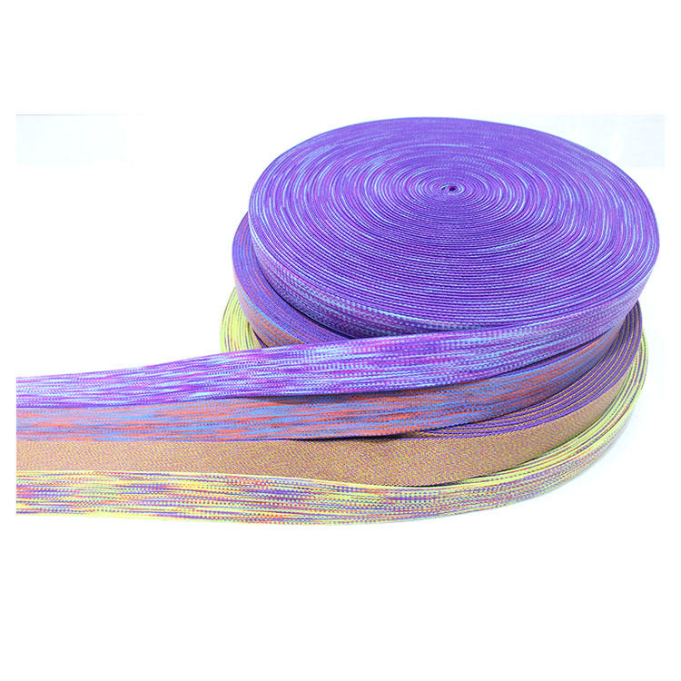 Fashion nylon multi color high elastic band webbing