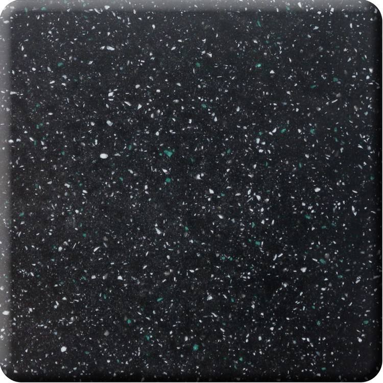 Custom Wholesale Artificial Resin Stone Slabs Black Granite Acrylic Solid Surface Sheet