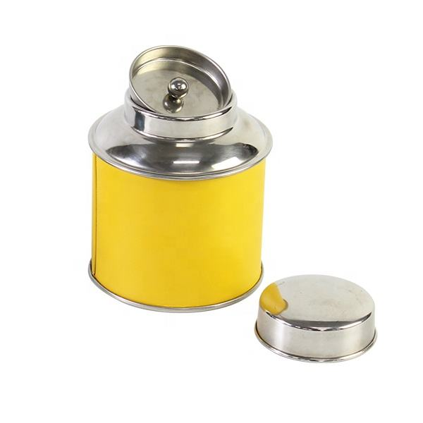 2018 hot sale high quality stainless steel tea tin can box big size tea can holder metal tea holder