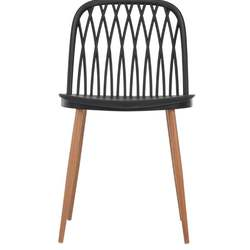 VINTAGE IRON WOOD BLACK CAFE CHAIR