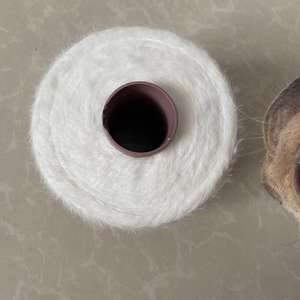 Best quality white dyed dope 1.3cm nylon feather yarn for knitting sweater