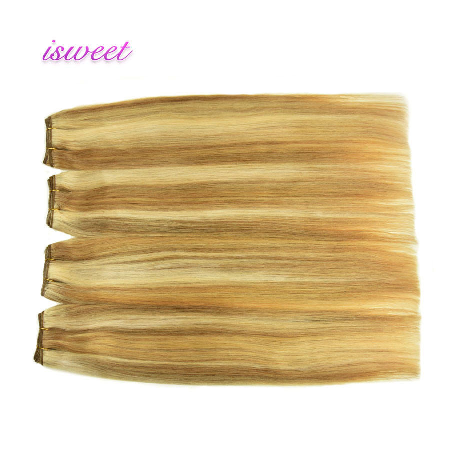 Grade 10A piano color human hair weave bundles wholesale in hair extensions