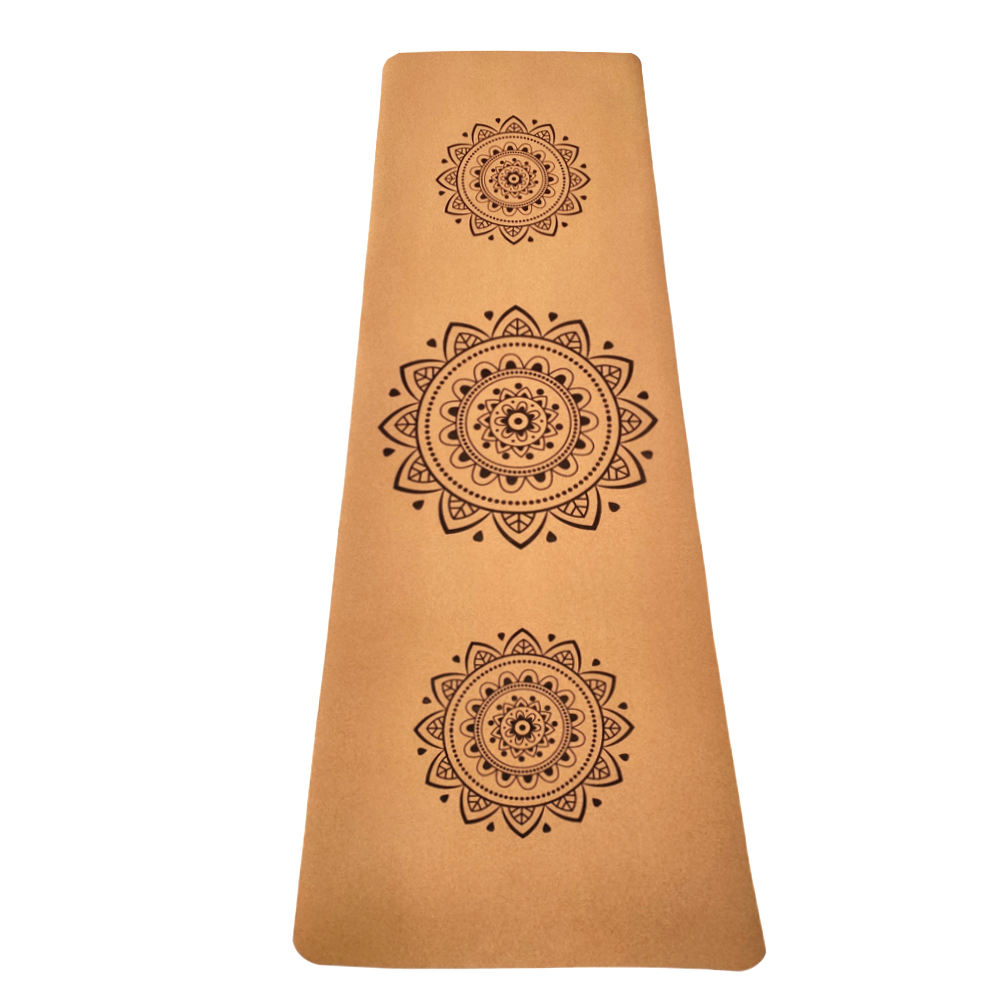 Natural custom Cork yoga mat Non-slip for Pilates, Exercise, Fitness, Workout