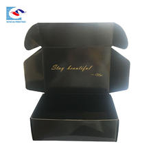 SENCAI high quality custom printing black gloss lamination shoes packaging corrugated shipping paper box