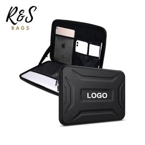 Customized Size 14 Inch Waterproof Shockproof Nylon Zipper EVA Hard Shell Laptop Carrying Bag Case
