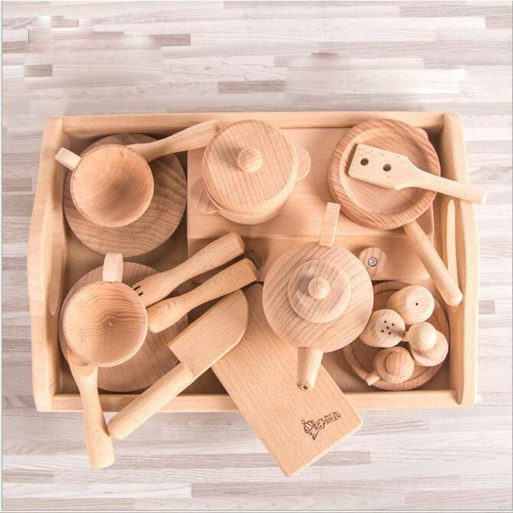 Pretend Play Girls Toys Kitchenware Play Set Miniature Kitchen Pots Pans Kettle Faked Food Kids Kitchen Toys for Children