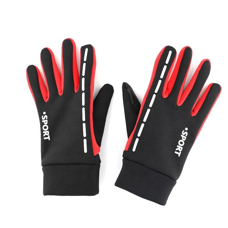 Mountain Climbing Bike Bicycle Windproof Warm Winter Hand Warm Thermal Anti-Shock Padded Waterproof Riding Gloves