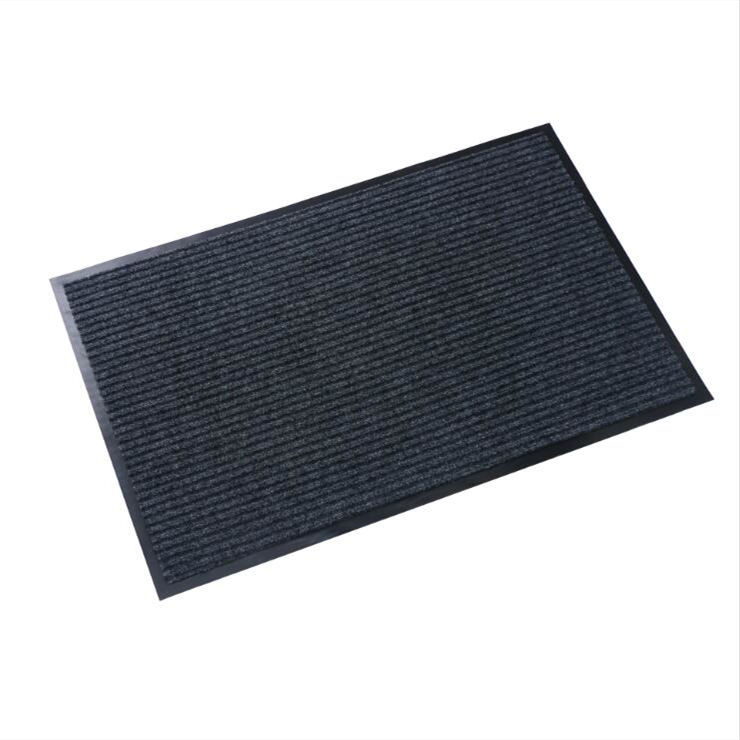 PVC Baclking Striped Door Floor Mat Polyester Entrance Carpet für Kitchen, Outdoor