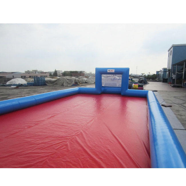 Factory outlet inflatable football field inflatable soap soccer arena/pitch/court for sale A6025