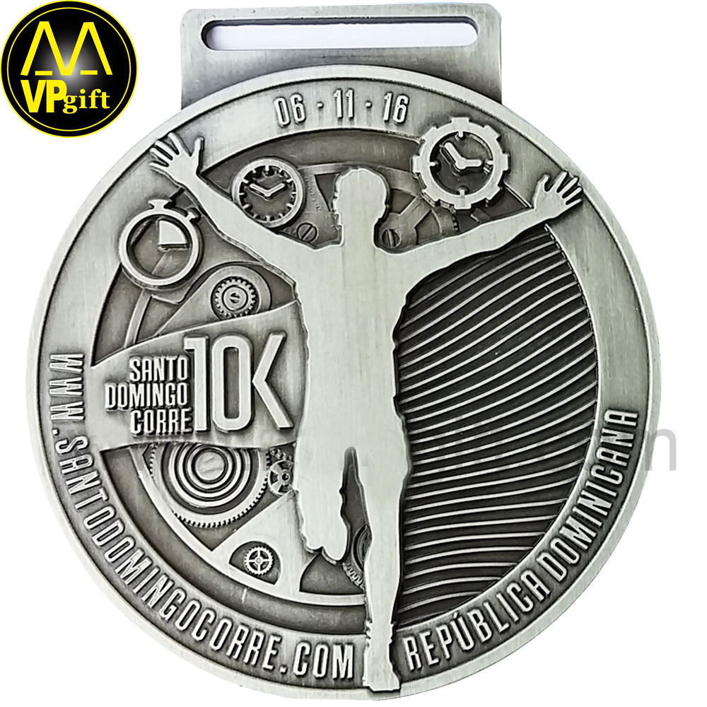 Custom china metal 3D 3K running race football marathon sports trophy coin medal