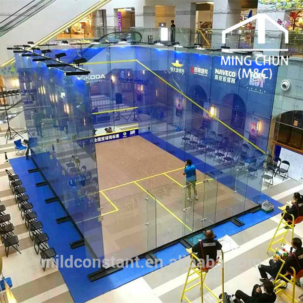 Full Glass Squash Court With Ceramic Dots Wholesale