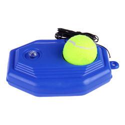 1pc Blue Plastic Racket Ball Trainer Single Tennis Practice Base Device Kit