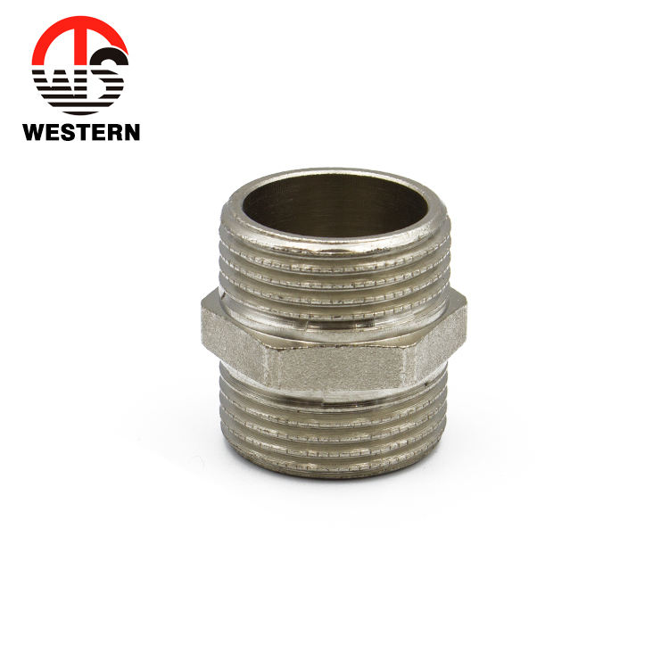 brass sanitary nipple pipe connection fittings union connector