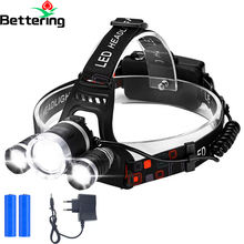 long range distance 3T6 camping climbing outdoor sports work cob mining headlamp flashlight led head light lamp rechargeable