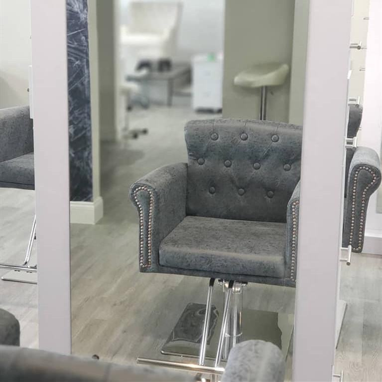 grey hairdressing beauty salon chairs for sale