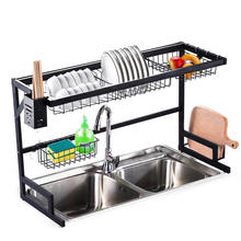 Over Sink(32inch) Dish Drying Rack, Drainer Shelf for Kitchen Supplies Storage Counter Organizer Utensils Holder