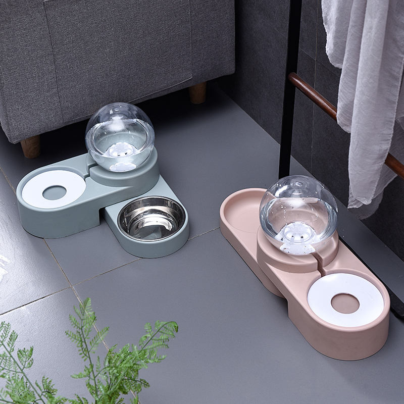 2020 new 2 in 1pet best design smart pet feeder cat dog eat bowl automatic water and food feeder bowl pet Automatic feeder