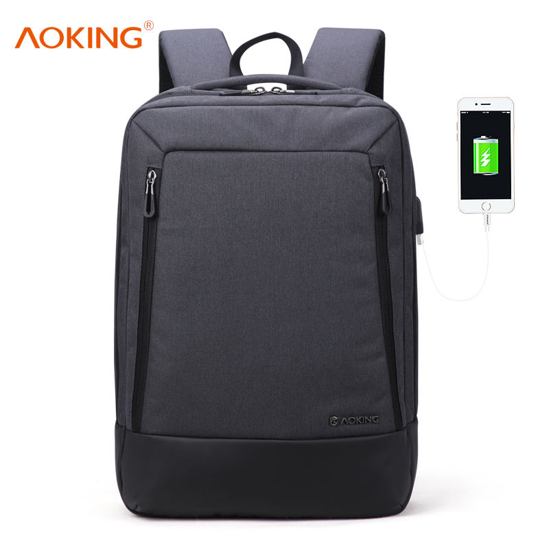 aoking good quality usb port laptop backpack mochila masculina bagpack usb charging bag backpacks for men
