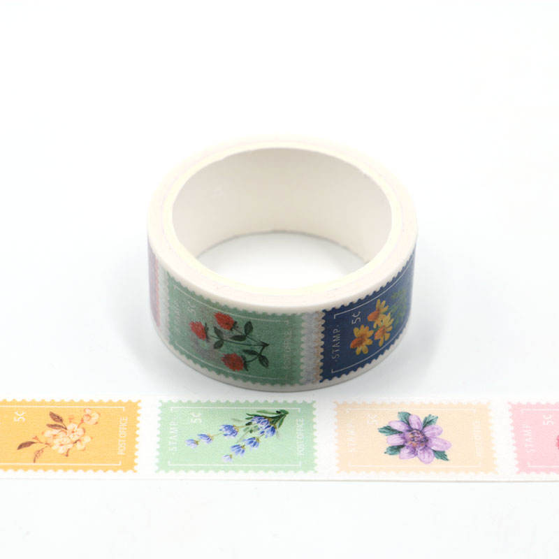 Vintage Postzegel Geperforeerde Washi Tape