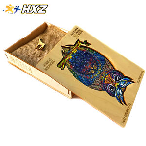 Owl kids 3d puzzle game wooden puzzle toy educational wooden puzzle wood crafts