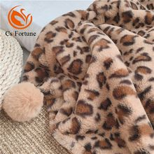Customized leopard print blanket faux fur throw