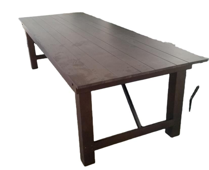 Solid wood antique farm banquet foldable table