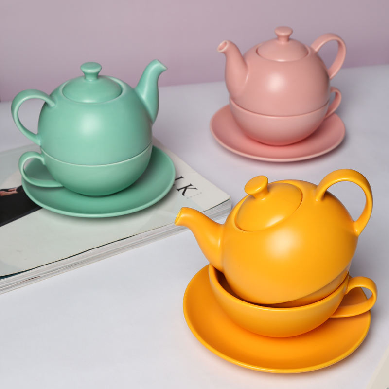 TP39 Simple Design Glazed Home Goods Coffee Set Daily Use Ceramic Tea Sets with Glazed