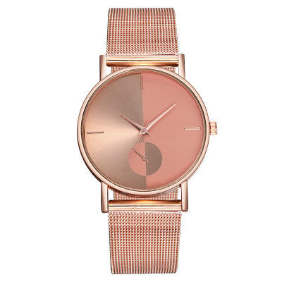 Unisex Couple Fashion Quartz Watches no any logo with stainless steel mesh band daily waterproof more than only $1/pcs
