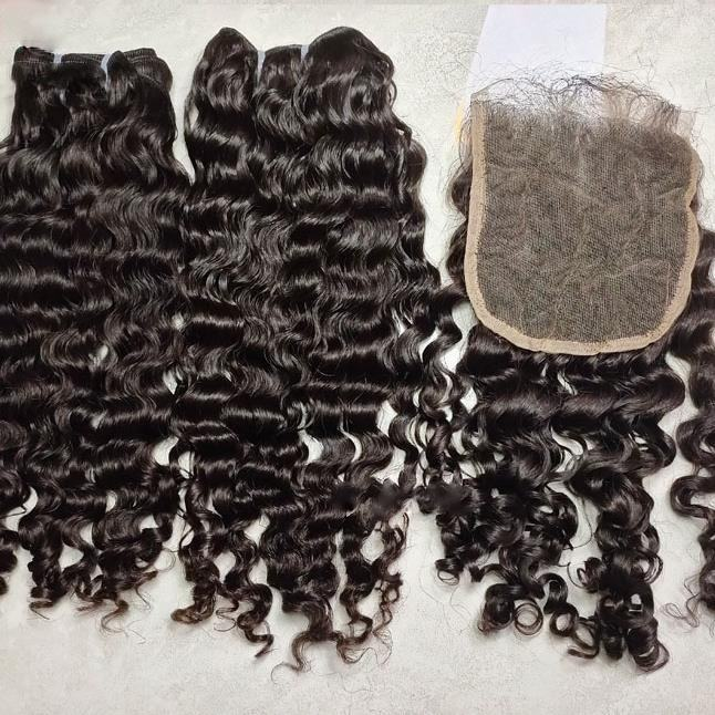 Full Cuticle Aligned Raw Virgin Brazilian Hair Can be Dyed Bleached Deep curl 13*4 hd film thin swiss lace frontal