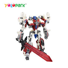 Metal Deformation Robot Toys White Warrior toys for kids