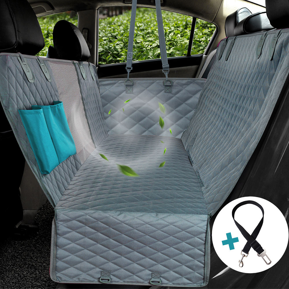 Waterproof Dog Pet Car Seat Cover Hammock with Viewing Mesh Window and Pockets