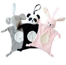soft baby doudou elephant bunny panda animals baby comforter plush toy