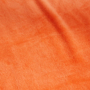 Rapid production cozy orange fleece throw 100% Polyester fluffy blanket