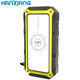 Solar Bank Solar Battery Bank Universal Li-polymer Battery Mobile 3 USB Output Wireless Charging 5V 2A 20000mah Waterproof Solar Panels Power Bank For Phone